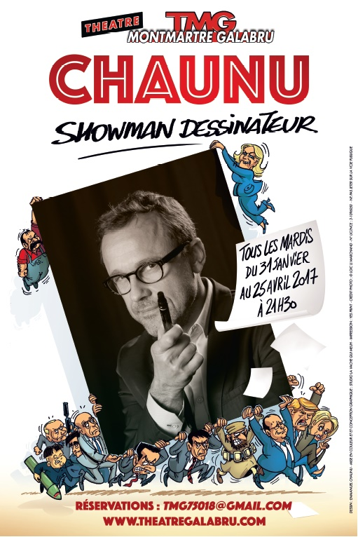 affiche du spectacle - showman dessinateur