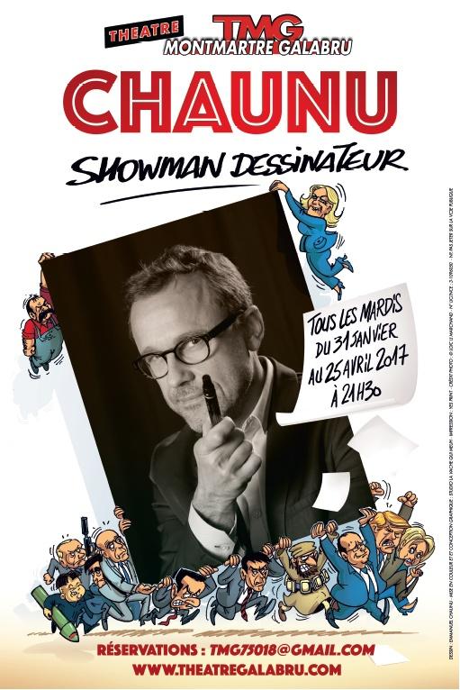 affiche du spectacle - showman dessinateur