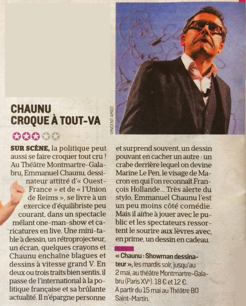 Article le Parisien avril 2017